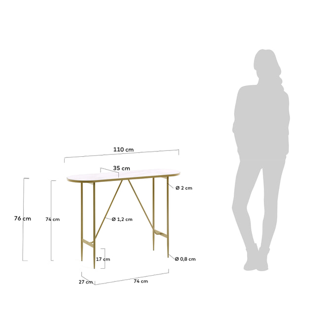 Kave Home Sidetable 'Elisenda', kleur Wit