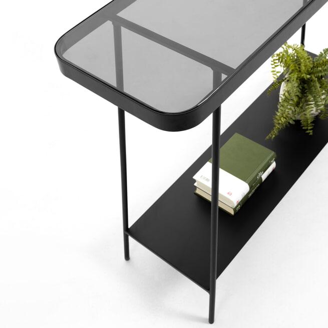 Kave Home Sidetable 'Duilia' 110cm, kleur Zwart