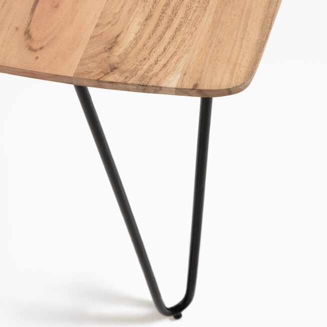 Kave Home Eettafel 'Barcli' Acacia, 160 x 90cm