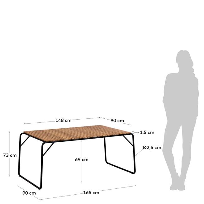 Kave Home Tuintafel 'Yukai' 165 x 90cm