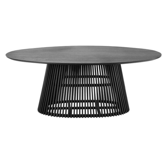 Kave Home Ovale Eettafel 'Jeanette' 200 x 120cm, kleur Zwart
