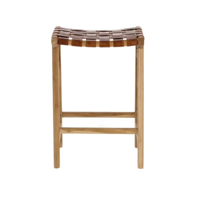 Kave Home Barstoel 'Calixta' kleur Bruin (zithoogte 67cm)