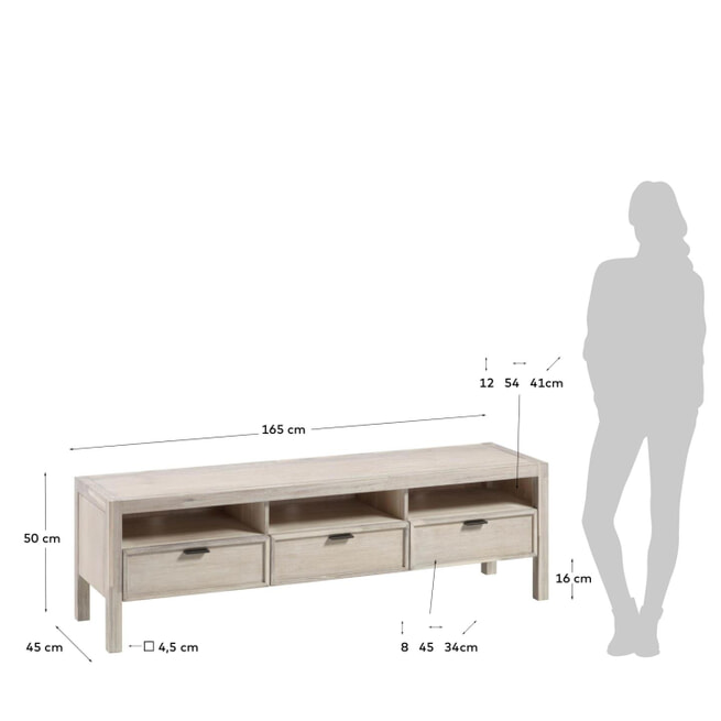 Kave Home Tv-meubel 'Alen', kleur Naturel