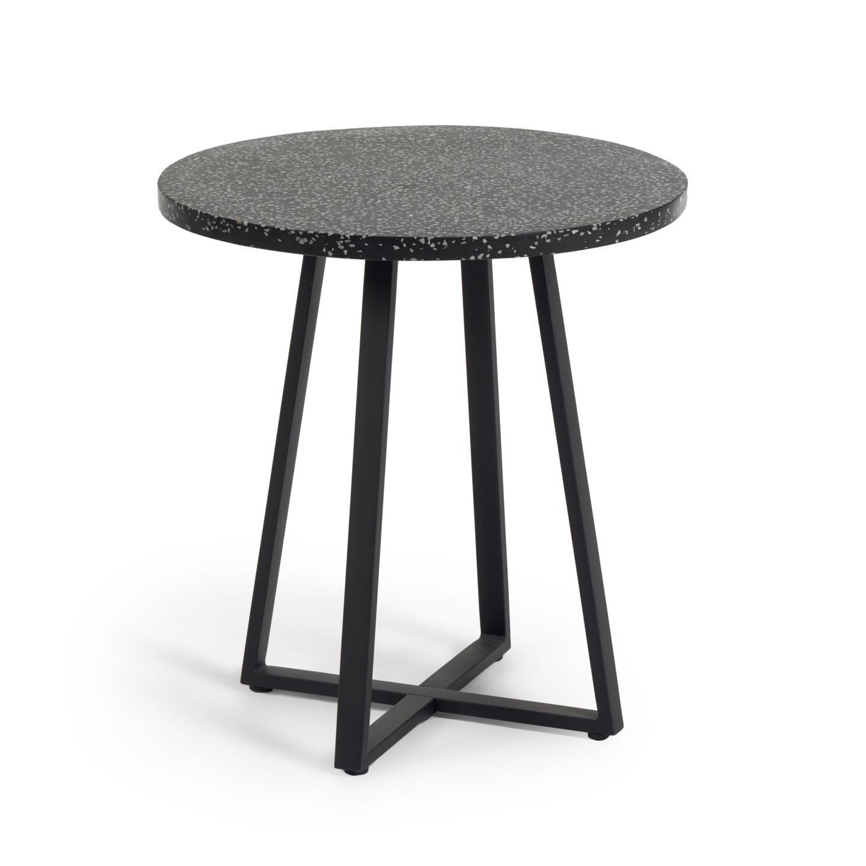 kavehome Kave Home Eettafel 'Tella', 75cm, kleur Zwart