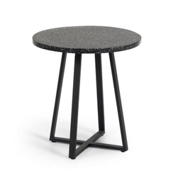 Kave Home Eettafel 'Tella', 75cm, kleur Zwart