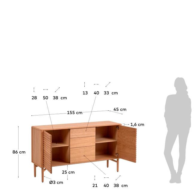 Kave Home Dressoir 'Lenon', 155cm