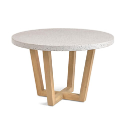Kave Home Eettafel 'Shanelle', 120cm, kleur Wit