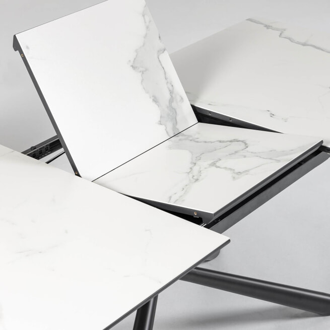 Kave Home Uitschuifbare Eettafel 'Theone' Marmer, 160-210 x 90cm