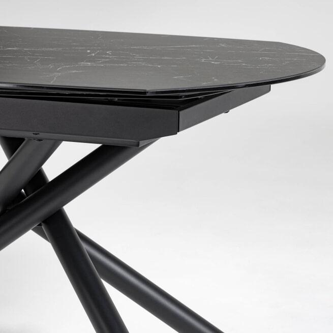 Kave Home Uitschuifbare Eettafel 'Yodalia' Marmer, 130-190 x 100cm,