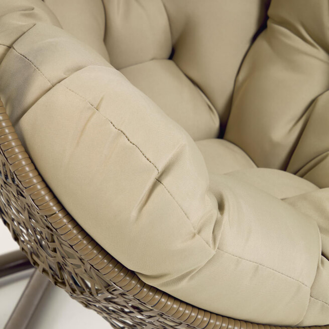 Kave Home Hangstoel 'Florina', kleur Bruin
