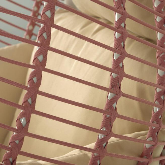 Kave Home Hangstoel 'Elianes', kleur Roestbruin