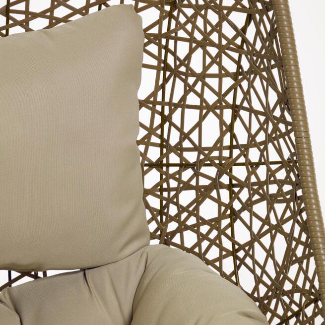 Kave Home Hangstoel 'Florina' met standaard, kleur Bruin