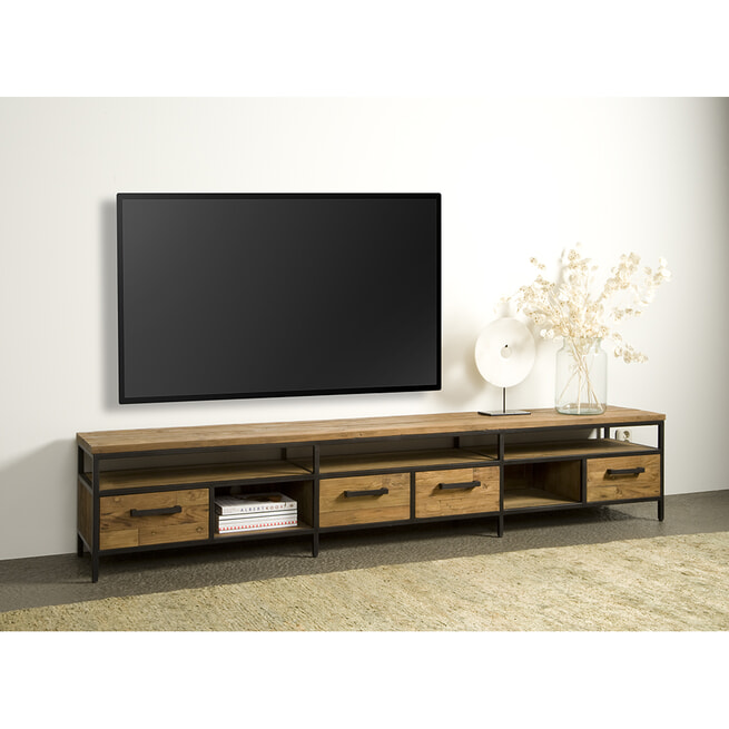 Tower Living Tv-meubel 'Livorno' Teak, 240cm