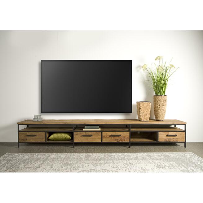 Tower Living Tv-meubel 'Livorno' Teak, 300cm