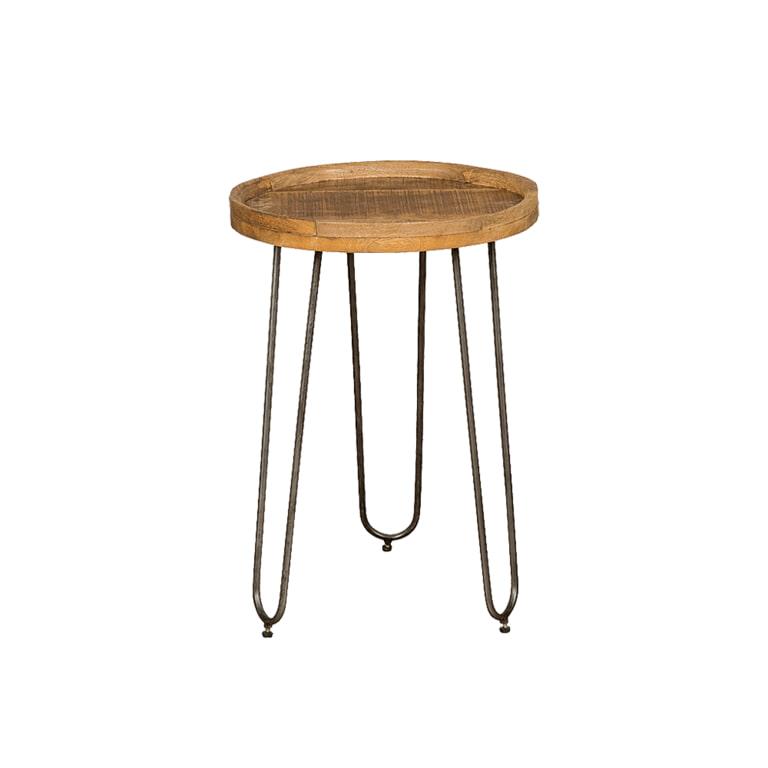 RENEW Bijzettafel 'Roel', 55 cm, kleur Bruin