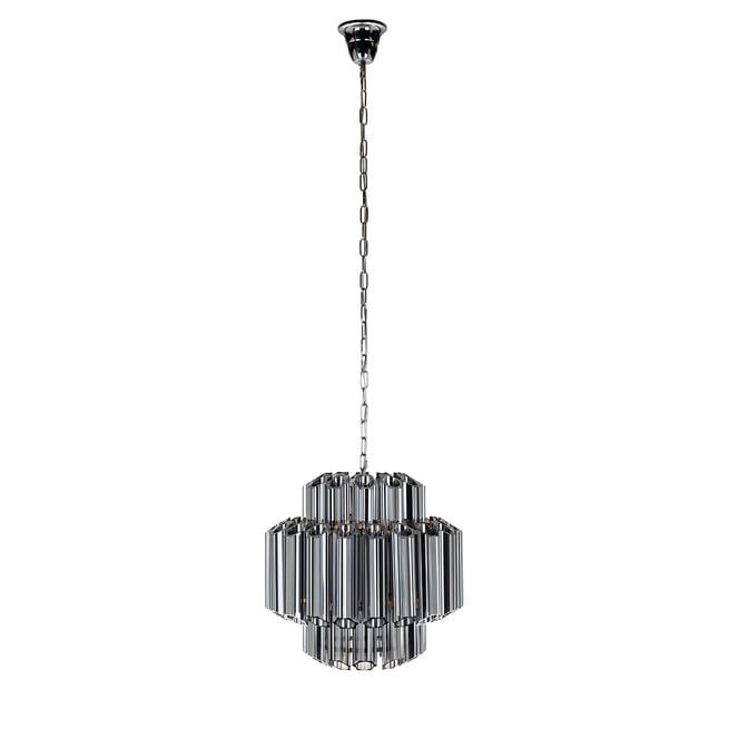 Richmond Hanglamp 'Yale', Glas, kleur Zilver