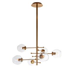 Richmond Hanglamp 'Daria', 6-lamps, kleur Goud