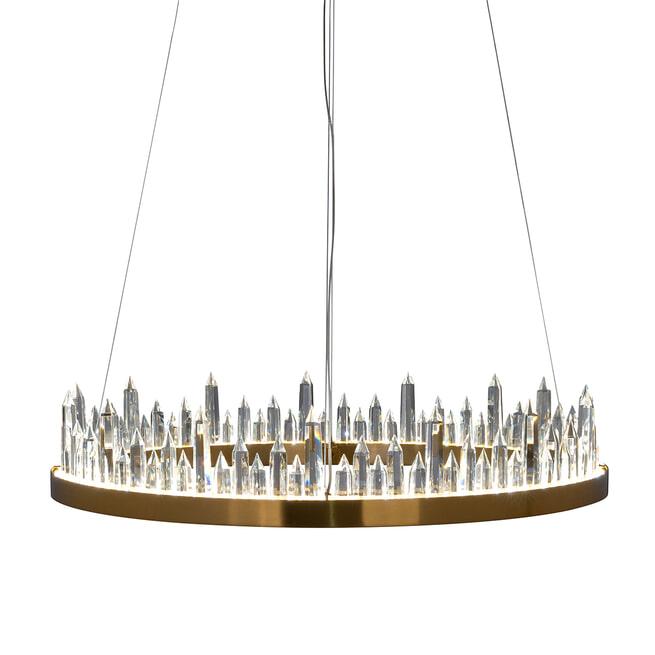 Richmond Hanglamp 'Ziggy', Staal/Kristal