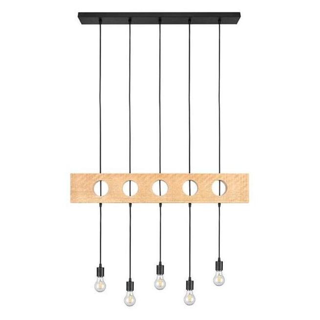 LABEL51 Hanglamp 'Timber', Mangohout, 145cm