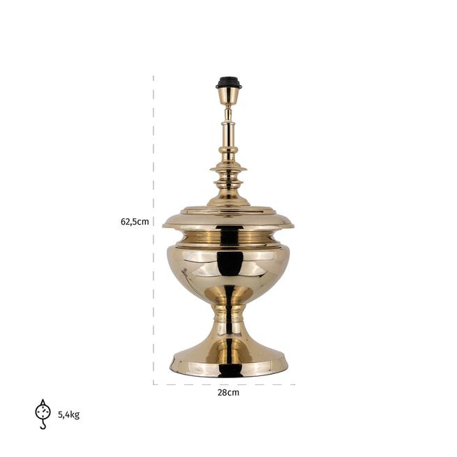 Richmond Tafellamp 'Ensley' 62.5cm, kleur Goud