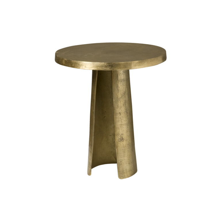 RENEW Bijzettafel 'Andrea' kleur Antique Brass, Ø50cm