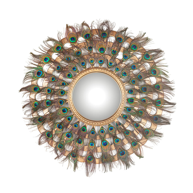 Richmond Spiegel 'Macynn', Veren, 78cm, kleur Goud