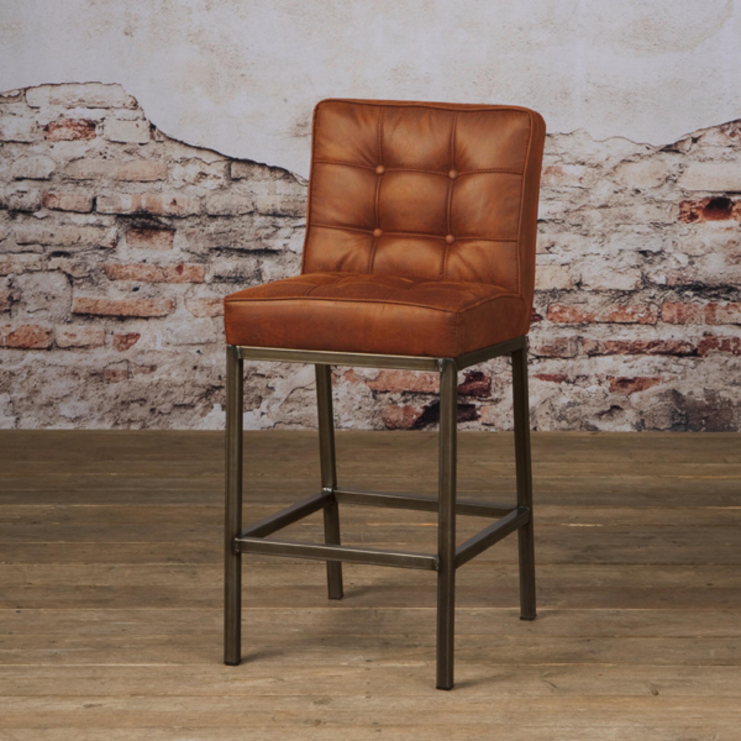 Tower Living Barkruk 'Vasco' (zithoogte 67cm), kleur Cognac