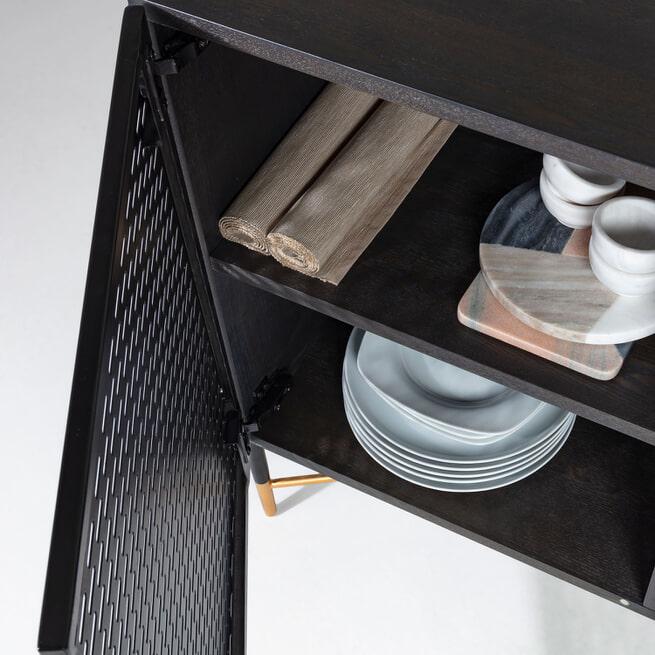 Kave Home Dressoir 'Milian' 159cm, kleur Zwart