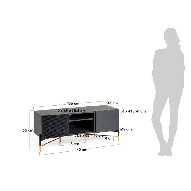 Kave Home TV-meubel 'Milian' 141cm