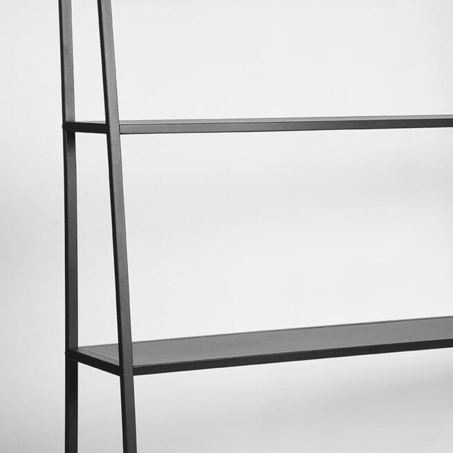 LABEL51 Bergkast 'Fence', Metaal, 125 x 35 x 185cm, kleur Zwart