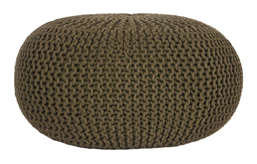 LABEL51 Poef 'Knitted', 70 x 35cm, kleur Groen