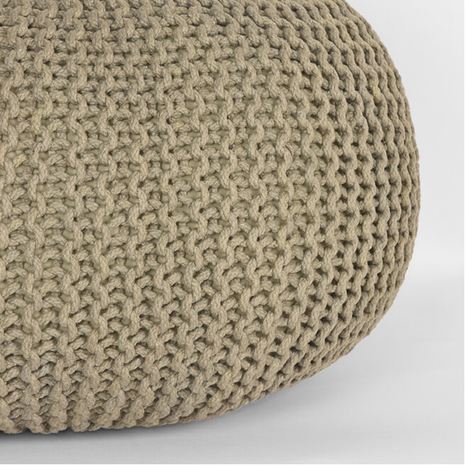 LABEL51 Poef 'Knitted' 70 x 35cm