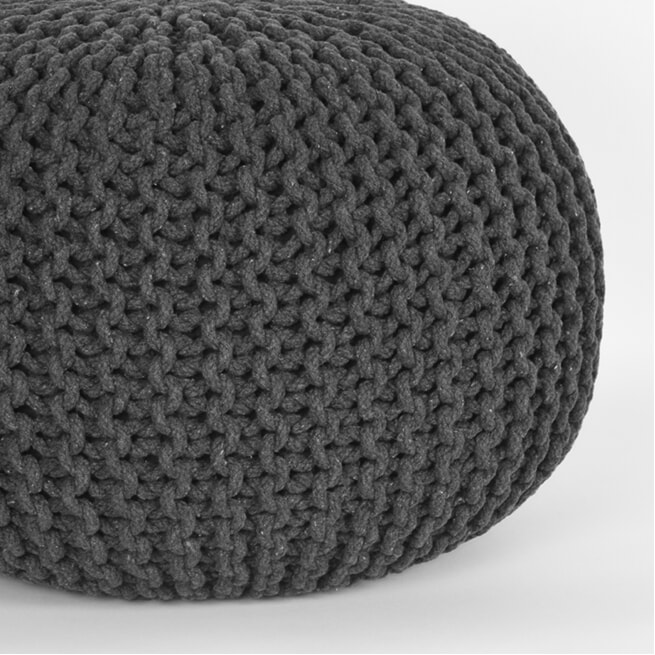 LABEL51 Poef 'Knitted' 50 x 35cm