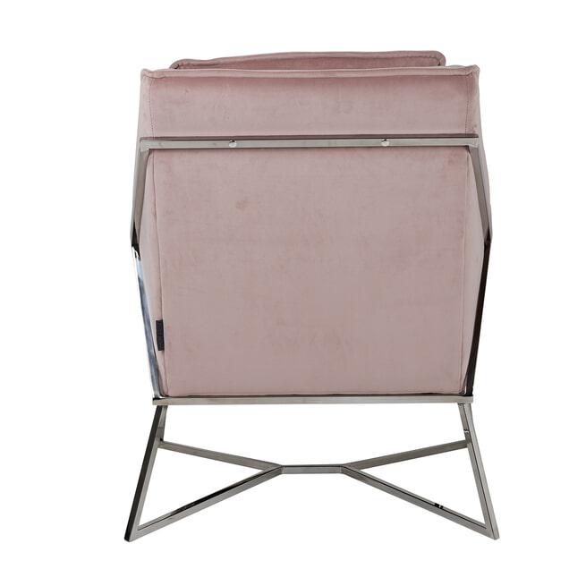 Richmond Fauteuil 'Aurelia' Velvet, kleur Roze / Zilver