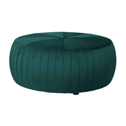 Richmond Poef 'Joya' Velvet, kleur groen, 83cm