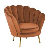 Richmond Fauteuil 'Perla' Velvet, kleur Rust