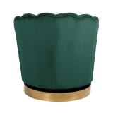 Richmond Draaifauteuil 'Mila' Velvet, kleur Groen