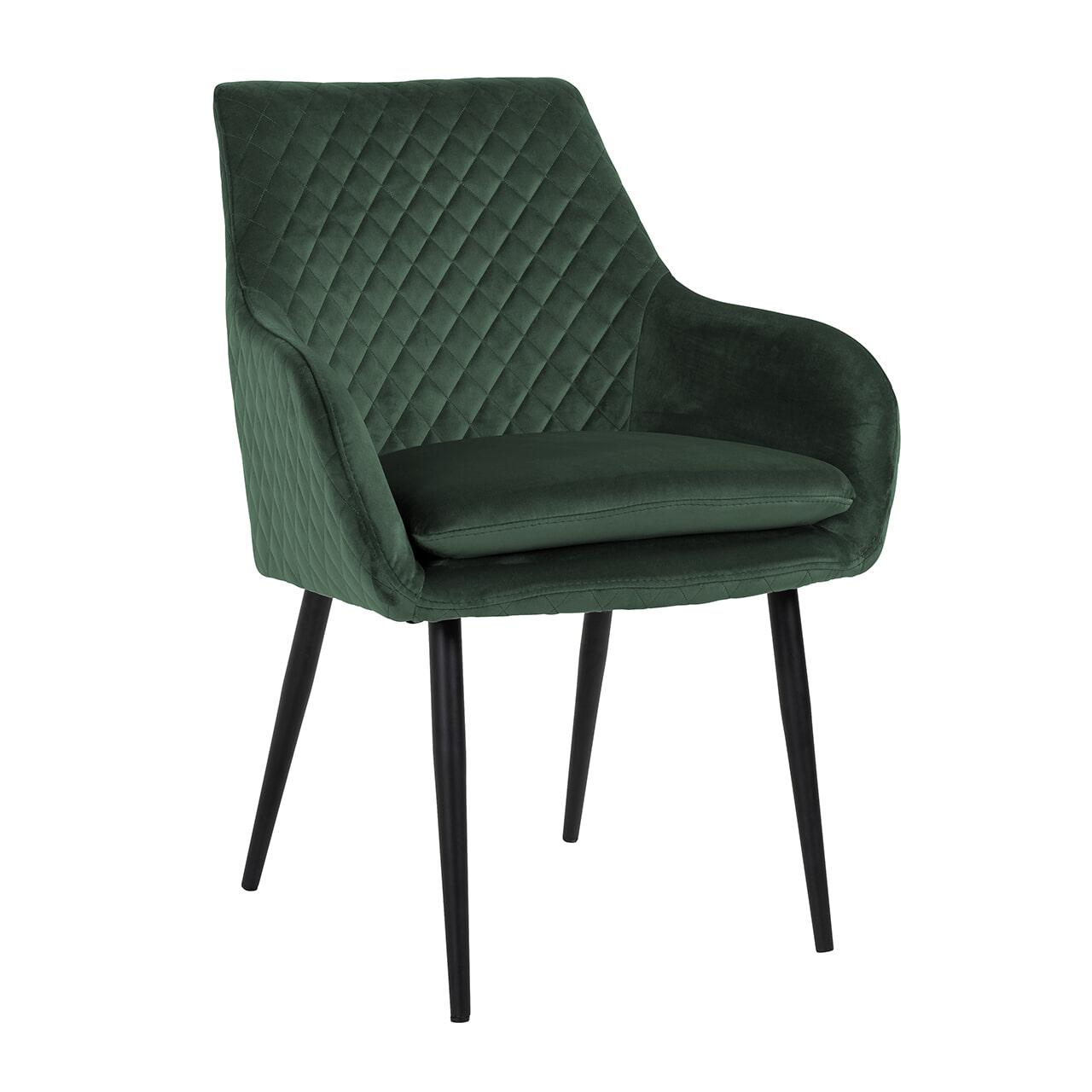 Richmond Eetkamerstoel 'Chrissy' Velvet, kleur Groen