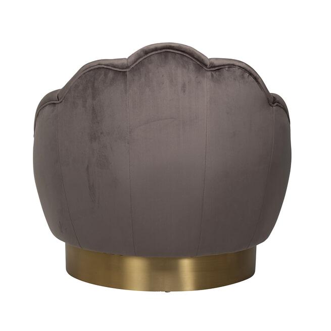 Richmond Fauteuil 'Olivia' Velvet, kleur Stone