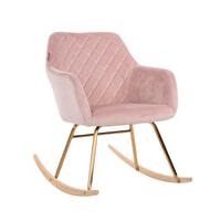 Richmond Schommelstoel 'Rocky' Velvet, kleur roze
