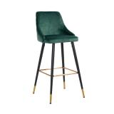 Richmond Barstoel 'Imani' Velvet, kleur Groen (zithoogte 77cm)