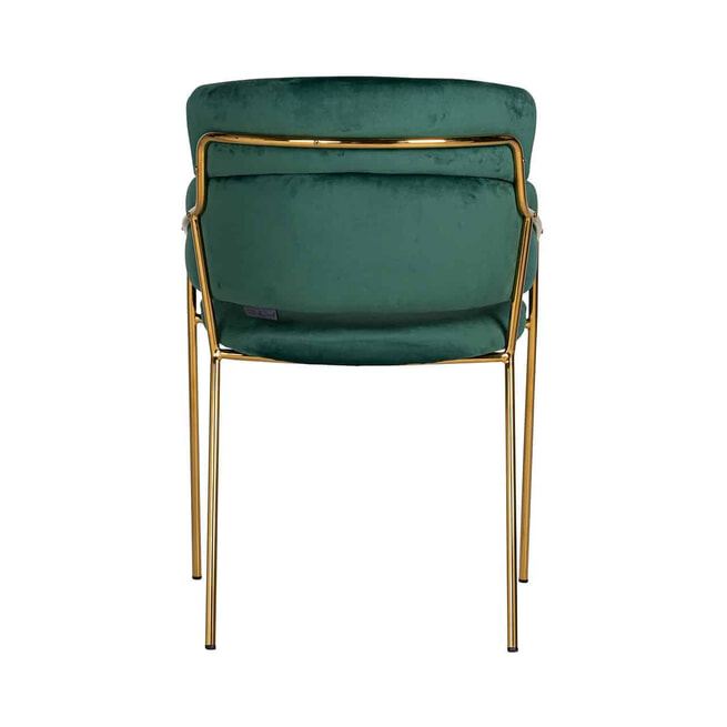Richmond Eetkamerstoel 'Angelica' Velvet, kleur Groen