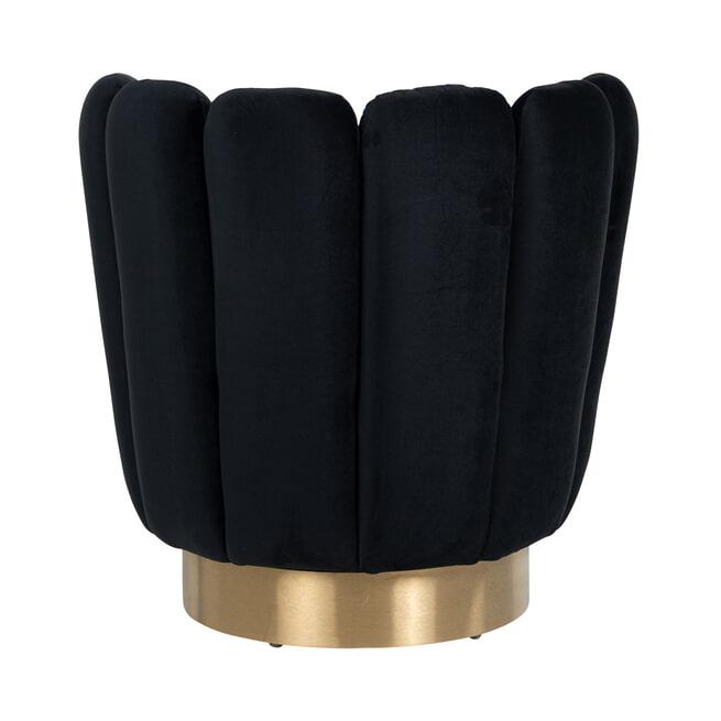 Richmond Fauteuil 'Mayfair' Velvet, kleur Zwart