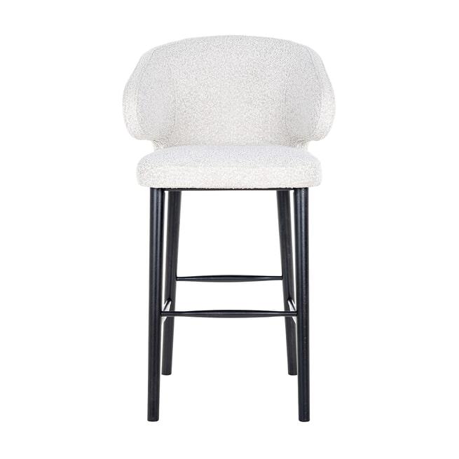 Richmond Barstoel 'Indigo' Bouclé, kleur Wit (zithoogte 78cm)