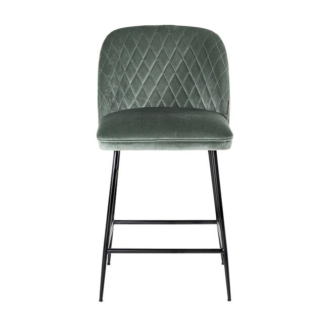 Richmond Barstoel 'Pullitzer' Velvet, kleur Jade-groen (zithoogte 69cm)