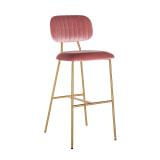 Richmond Barstoel 'Xenia', Velvet, kleur Roze