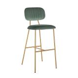 Richmond Barstoel 'Xenia', Velvet, kleur Groen