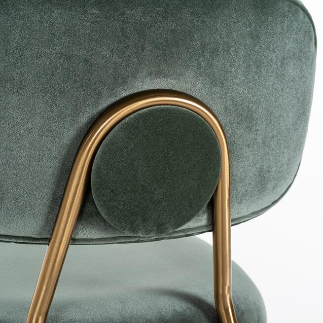 Richmond Barstoel 'Xenia' Velvet (zithoogte 79cm)
