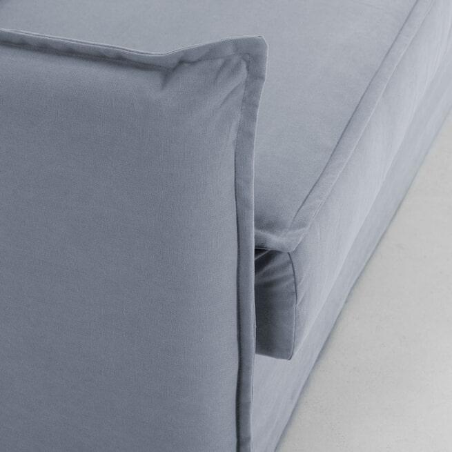Kave Home Slaapbank 'Samsa' Polyurethaan, 140cm, kleur Blauw
