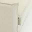 Kave Home Slaapbank 'Samsa' Polyurethaan, 140cm, kleur Wit
